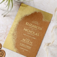 Dusted Glamour Wedding Invitation Card Design