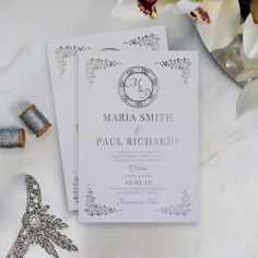 Enchanted Crest Stationery invite