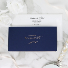Forever Love Booklet - Navy Invite Card