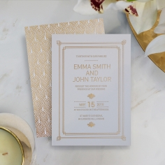 Gilded Decadence Invitation Card Design