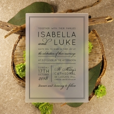 Luxe Acrylic Elegance Wedding Invite Design
