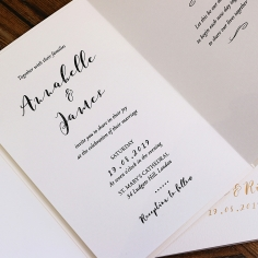 Written In The Stars Wedding Invite Card