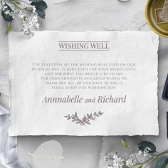 Ace of Spades with Deckled Edges wedding stationery gift registry enclosure card design