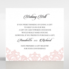 Baroque Pocket wedding stationery wishing well invitation