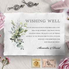 Beautiful Devotion wishing well stationery invite card design