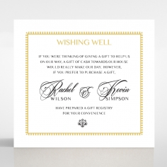 Black Doily Elegance gift registry invitation card