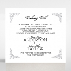 Black on Black Victorian Luxe gift registry wedding card design
