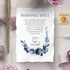 Blissful Union wedding wishing well invitation card