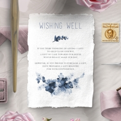 Blue Wonderland wedding wishing well invitation