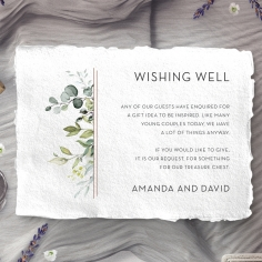 Botanic Romance wedding wishing well invite card