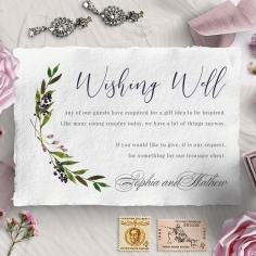 Country Charm wishing well enclosure stationery invite card