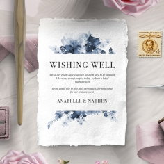 Dusty Watercolour wedding wishing well card design