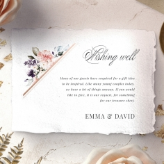 Enchanting Florals wishing well stationery