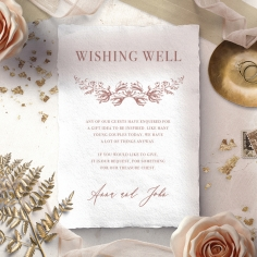 Fragrant Romance wishing well invite card design