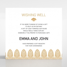 Gilded Decadence wishing well enclosure stationery invite card design