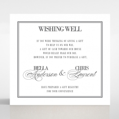 Golden Baroque Gates wedding stationery wishing well enclosure invite card design