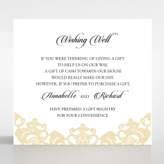 Golden Baroque Pocket wedding stationery wishing well invitation card
