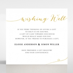 Infinity wishing well enclosure card