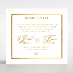 Ivory Doily Elegance with Foil gift registry card