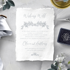 Leafy Wreath wishing well invitation