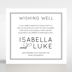 Luxe Paper Elegance wedding stationery gift registry card design