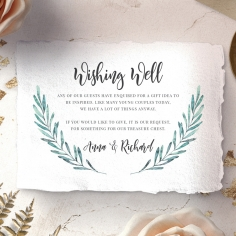 Modern Garland wishing well enclosure card design