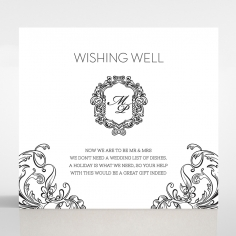 Paper Aristocrat wedding stationery gift registry enclosure invite card