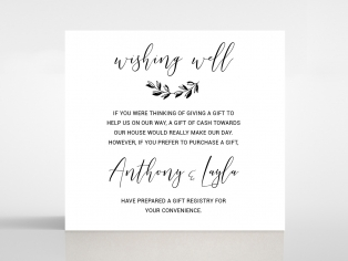 Paper Chic Rustic wedding stationery gift registry card
