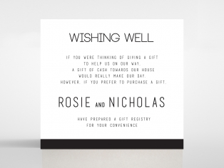 Paper Minimalist Love wedding stationery gift registry invite card
