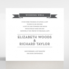 Playful Love wedding wishing well enclosure invite card design