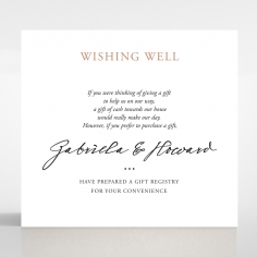 Sunburst wedding wishing well invite