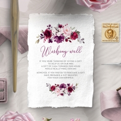 Their Fairy Tale wishing well stationery invite card