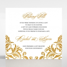 Victorian Extravagance with Foil wishing well stationery