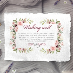 Vines of Love wedding wishing well invite card design
