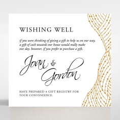 Woven Love Letterpress gift registry wedding card
