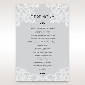 Order of service cards matching wedding stationery junglespirit Gallery