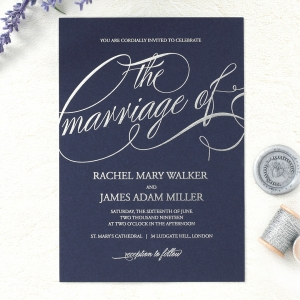 A Polished Affair Wedding Invite Card