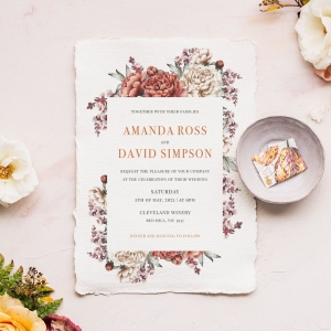 Blossoming Love Premium invite