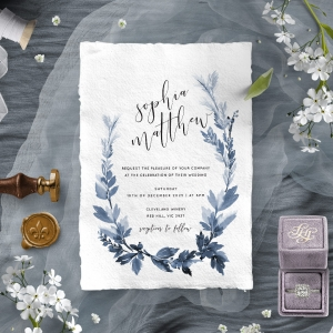 Blue Forest Invitation Design
