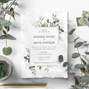 Botanic Romance Wedding Invitation Card Design