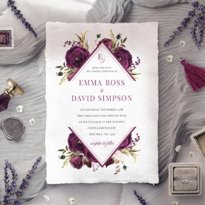 Burgandy Rose Stationery design