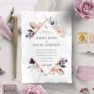 Enchanting Florals Stationery card design