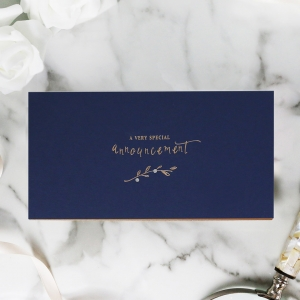 Forever Love Booklet - Navy Invitation Design