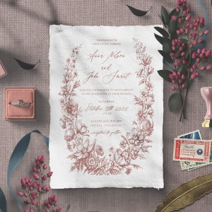Fragrant Romance Wedding Invite Design