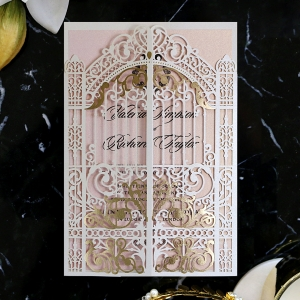 Ivory Victorian Gates Card
