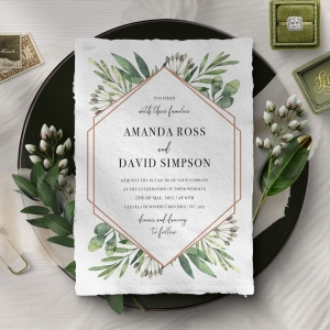 Modern Greenery Invite Card