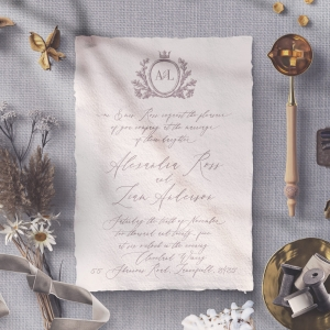 Royal Crest Wedding Invite Card Design
