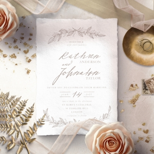 Simple Charm Wedding Invitation Card Design