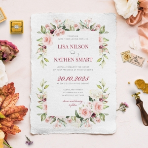 Vines of Love Wedding Invitation Design