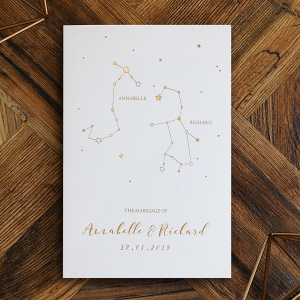 Written In The Stars Wedding Invitation Design